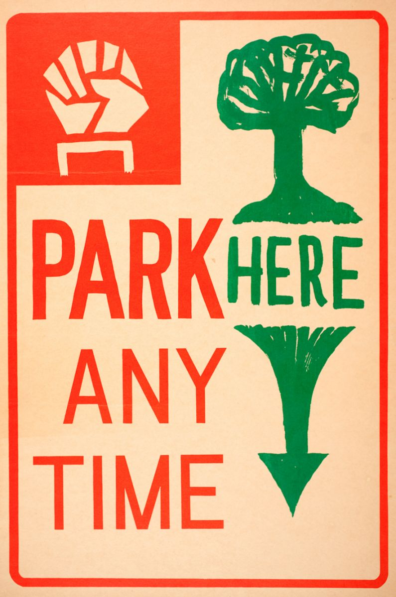 Park Here Poster